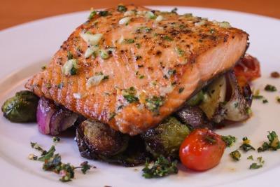 Salt-Baked Wild Salmon With Tomato Aioli And Potatoes Recipe ...
